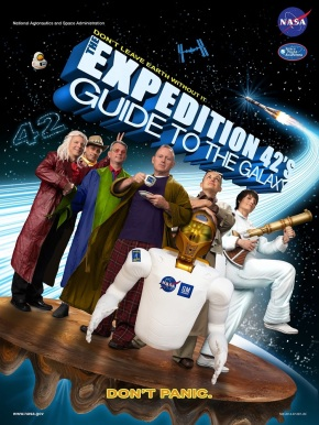 Expedition 42 ''The Hitchhiker's Guide to the Galaxy'' crew poster