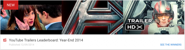 YouTube Trailers Leaderboard: Year-End 2014